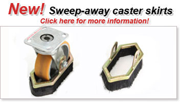 new sweep-away caster skirts!